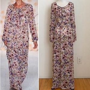 Lauren Conrad Runway Floral Peasant Maxi Dress